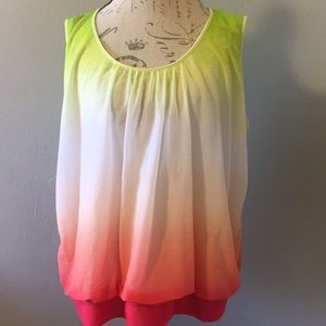 Worthington Woman  Colorful Top Size 3X